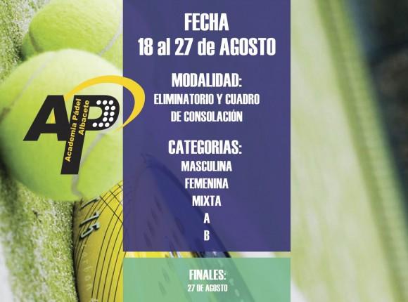 TORNEO DE VERANO 18-27 AGOSTO