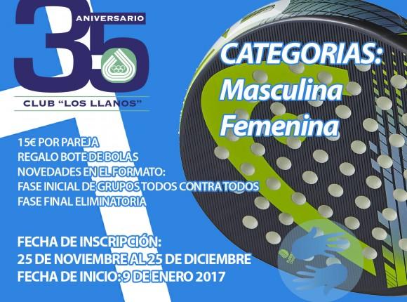 LIGA DE PADEL DE INVIERNO CLUB LOS LLANOS