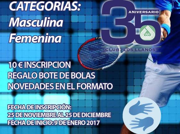 LIGA DE TENIS DE INVIERNO CLUB LOS LLANOS
