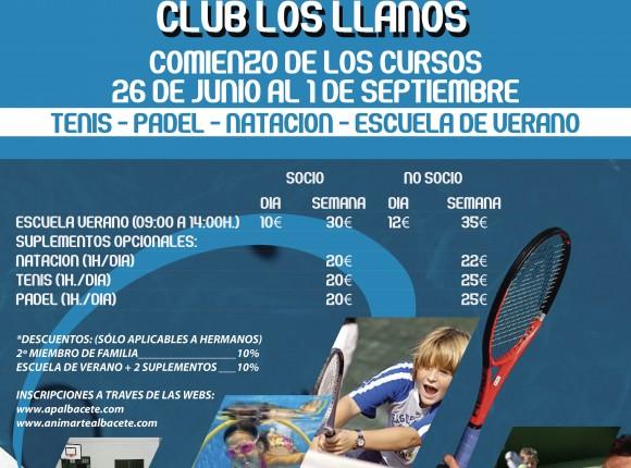 Cursos de Verano 2017 Club Los Llanos
